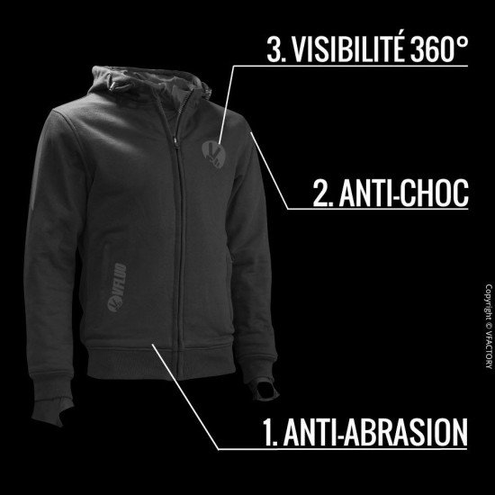 FULL PROTECT SWEATSHIRT™ Le sweat confortable de protection pour Motard